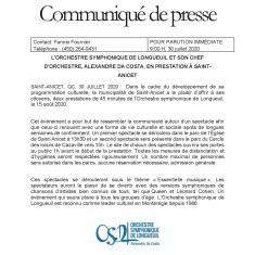 Communiquer De Presse Balcon Symphonique 15 Août 2020