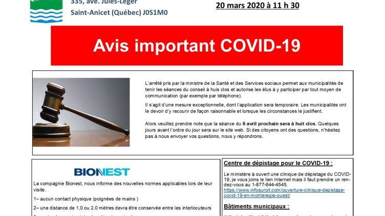 Avis Important 20 03 20