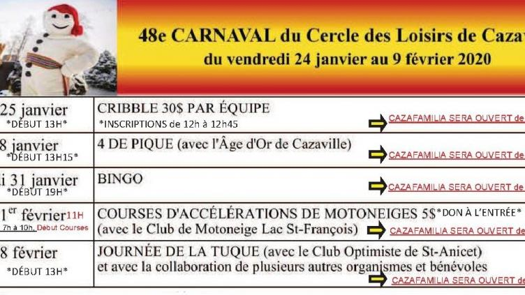Publication Facebook Carnaval Seul