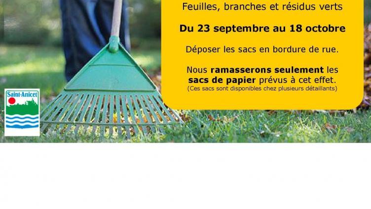 Collecte Feuilles Branches Et Résidus Verts